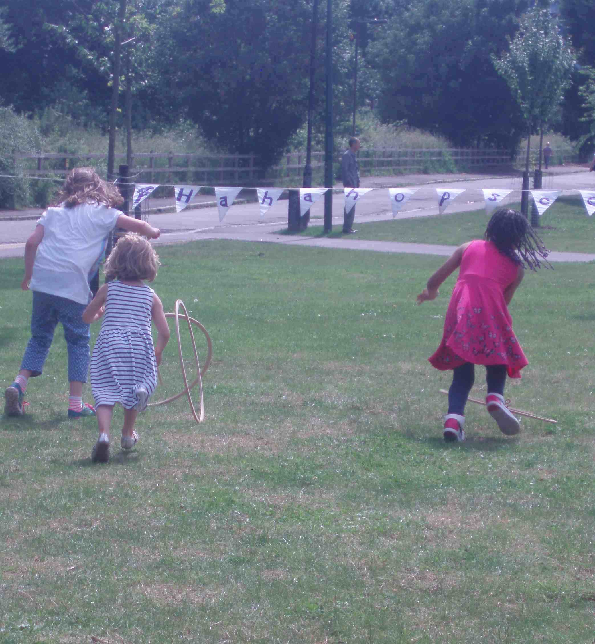 Hoops are harder than they look! Burgess Park, June 2014