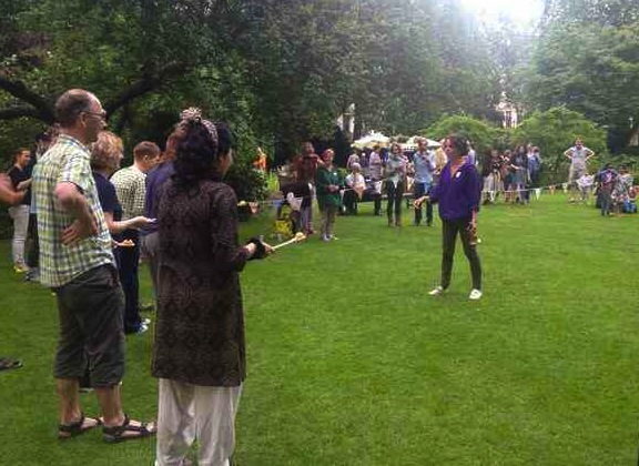 Silliness for grown-ups! Open Garden Squares Weekend, June 2014